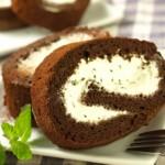 チョコミントロールケーキ