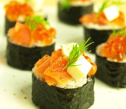ハーブ酢飯で作る、彩りお寿司