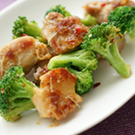 鶏肉とブロッコリーのアーリオ・オリオ 〜ローズマリー風味〜