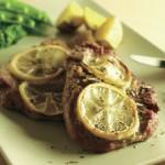 豚肉のレモンハーブグリル 春野菜添え