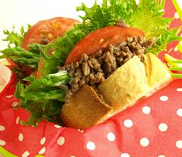 春野菜&牛ひき肉サンド