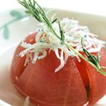 トマトの浅漬け ローズマリー風味